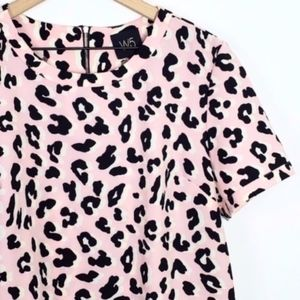 ANTHROPOLOGIE Light Baby Pink Leopard Cheetah Top
